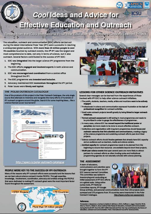 IPY Outreach Assessment Poster cover shot